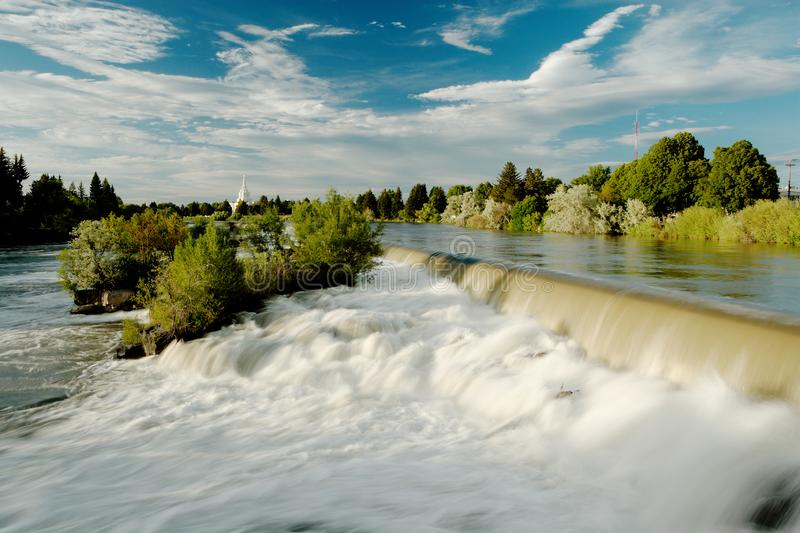 The waterfall that the city of Idaho Falls, Idaho is named after. An image of the waterfall that the city of Idaho Falls, Idaho is named after.  It is a man royalty free stock photos