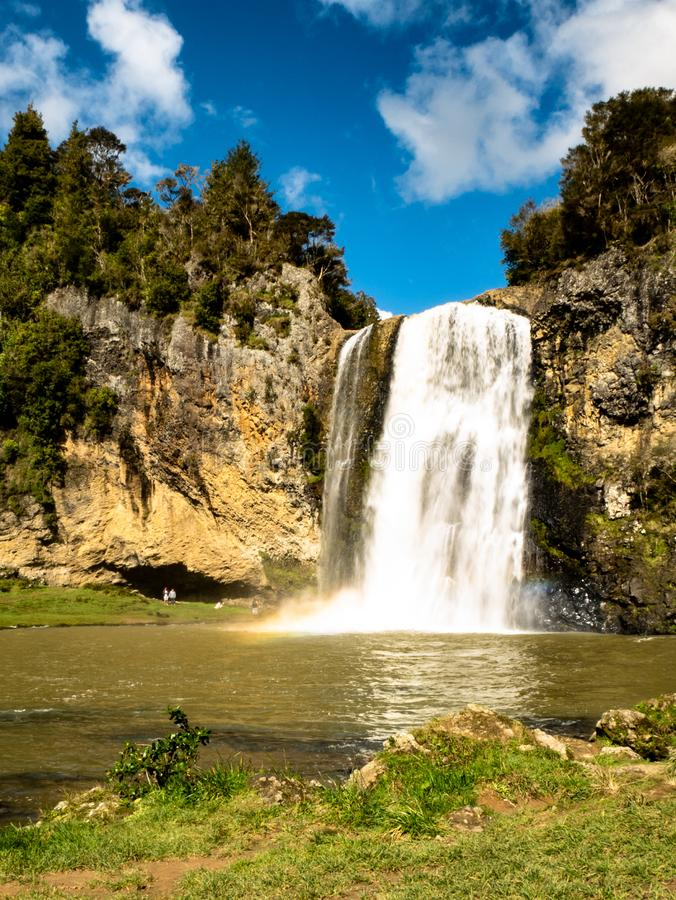 Waterfall close to Auckland, New Zealand. Views over waterfall , close to Auckland New Zealand during the spring time royalty free stock photos
