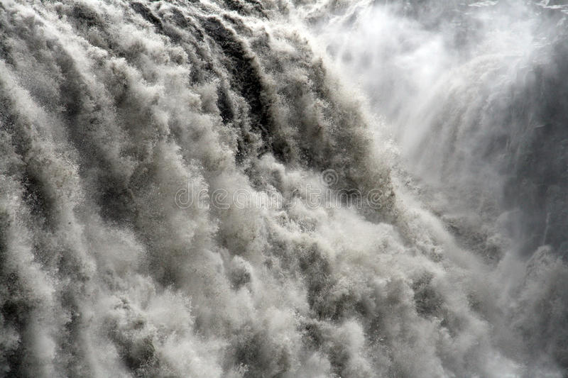 Waterfall close-up. Close-up of Dettifoss - largest waterfall in Europe. It is located in northern Iceland stock photography