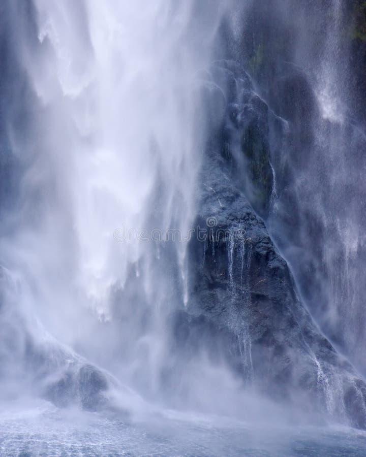 Waterfall closeup stock photo