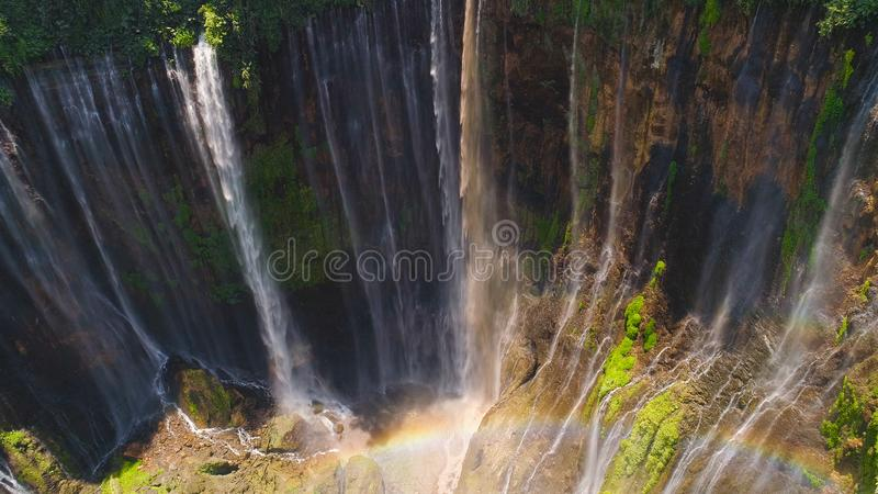 Waterfall Coban Sewu Java Indonesia royalty free stock photography