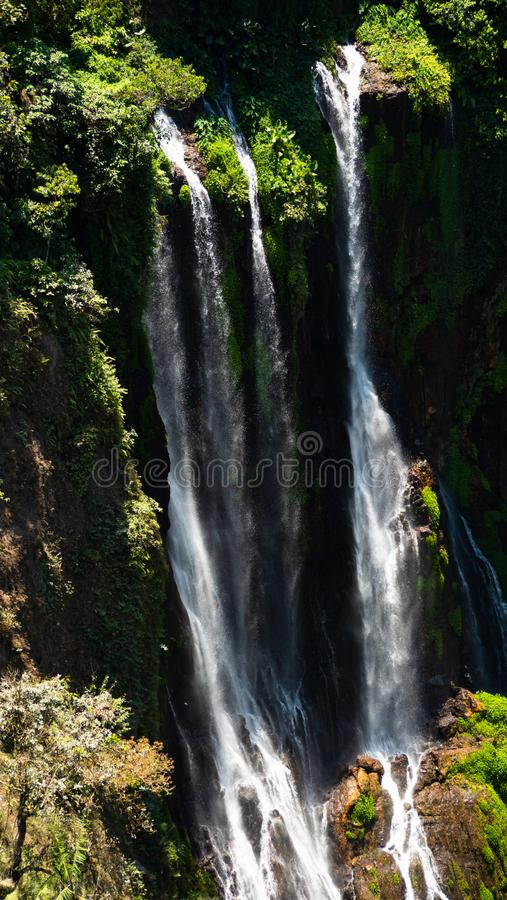 Waterfall Coban Sewu Java Indonesia stock images