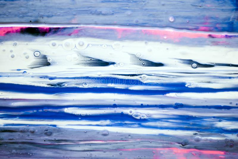 Waterfall color texture blue pink white gray background acrylics paint draw paint draw royalty free stock images