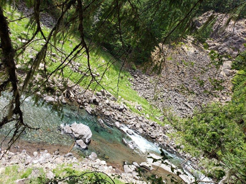 waterfall Cougar Reservoir  Oregon stock image