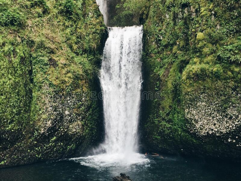 Waterfall in countryside royalty free stock photo