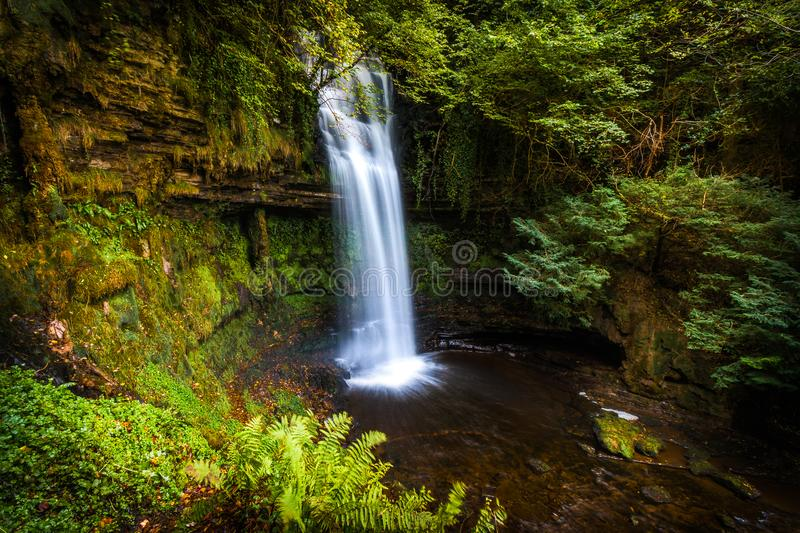 Waterfall Cove in Ireland royalty free stock images