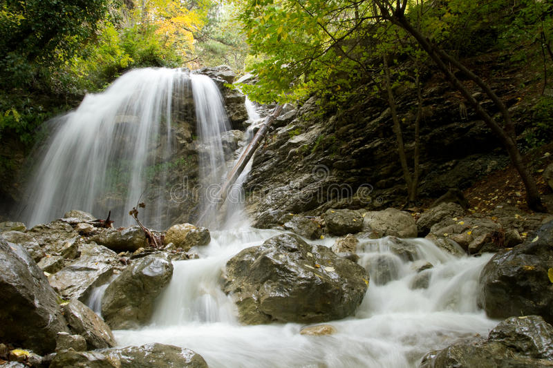 Download Waterfall  in Crimea stock image. Image of green, nature - 38782551