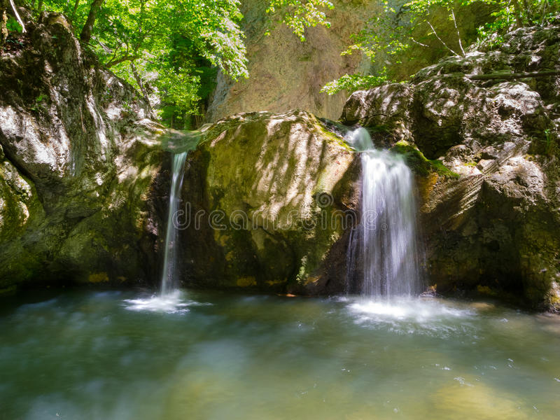 Download Waterfall in Crimea stock photo. Image of motion, beauty - 36057616