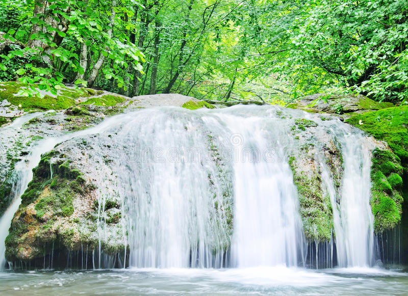 Waterfall. In Crimea, nature in Crimea stock images