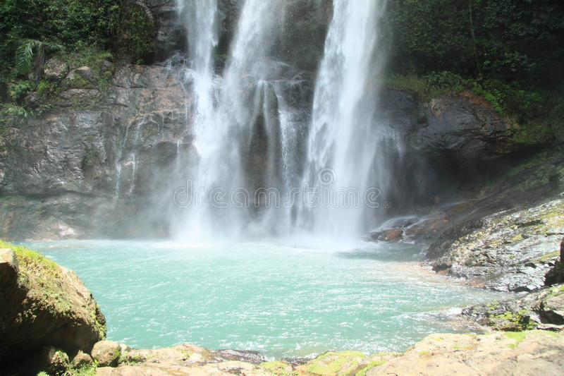 Waterfall Cunca Rami royalty free stock image