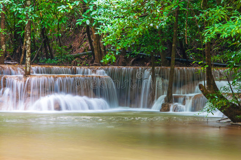 Download Waterfall In Deep Rain Forest Jungle (Huay Mae Kamin Waterfall I Royalty Free Stock Photography - Image: 32147057