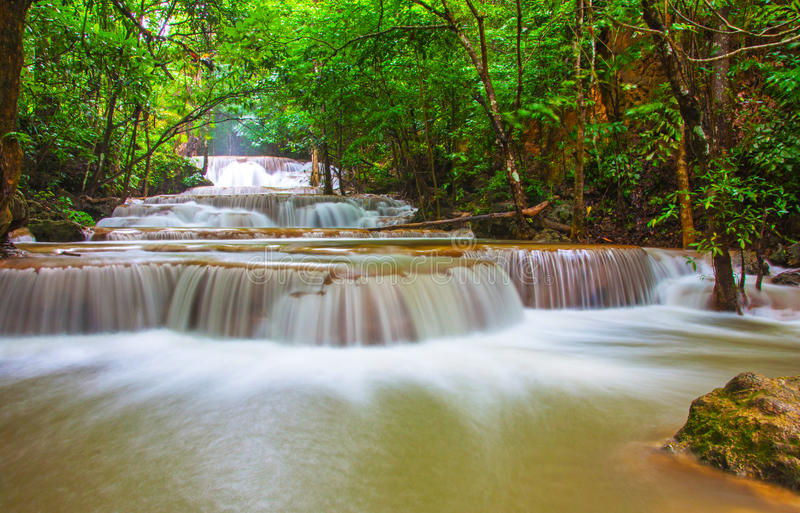Download Waterfall In Deep Rain Forest Jungle (Huay Mae Kamin Waterfall I Stock Image - Image of paradise, jungle: 32147081
