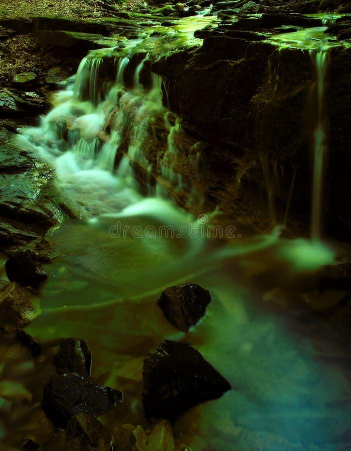 Waterfall dream. Surrealistic waterfall stock image