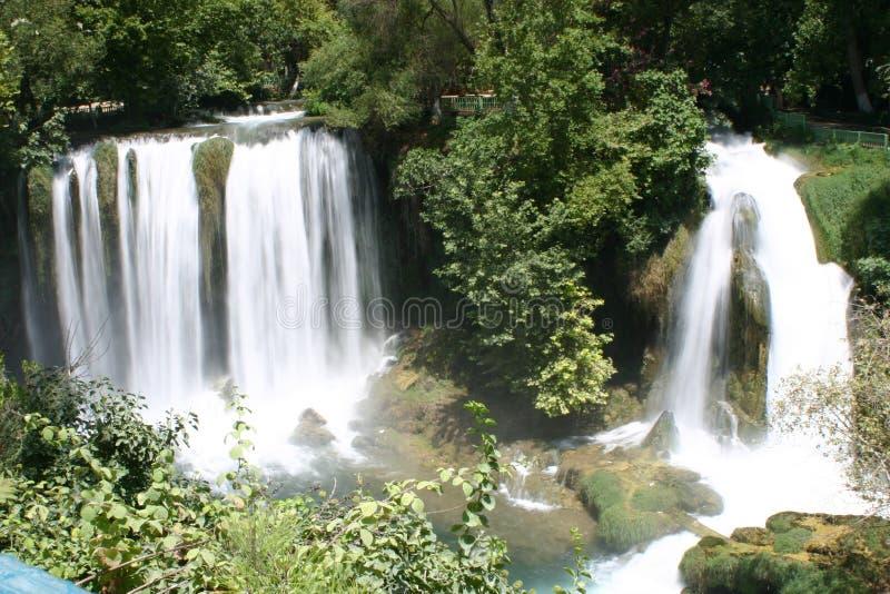Waterfall of duden antalya 1 royalty free stock image