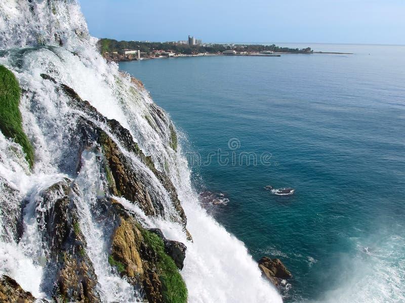 Waterfall Duden at Antalya stock image