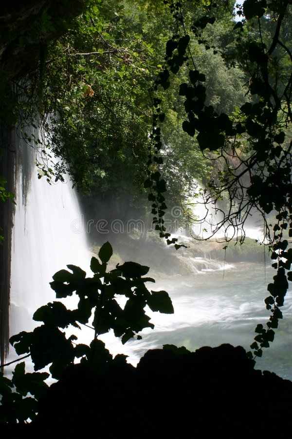 Waterfall of duden antalya royalty free stock photo