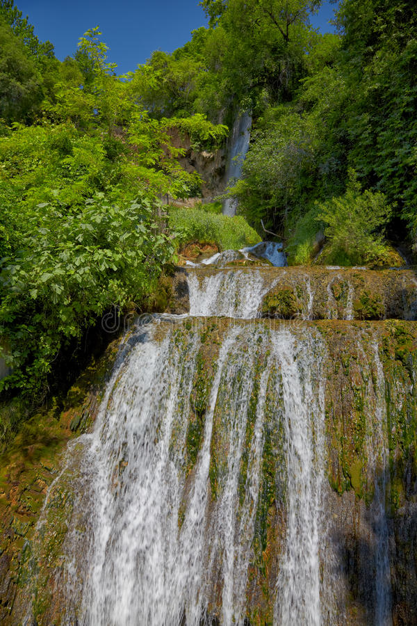 Waterfall in Edessa. City of waterfalls, Greece stock image