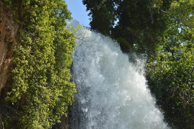 Waterfall Edessa Greece. A trip to Edessa`s waterfalls in Greece royalty free stock photography