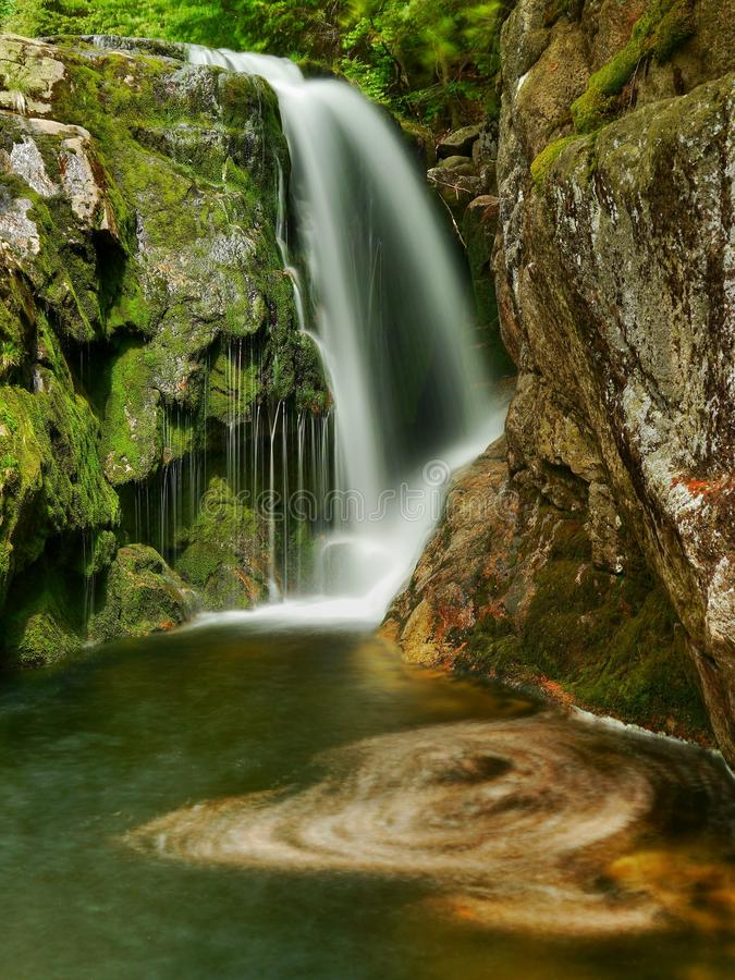 Waterfall Elbe river stock image