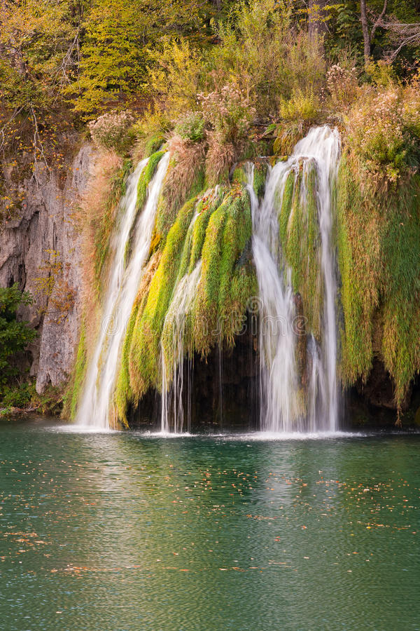 Waterfall at Plitvicka Jezera - Plitvice royalty free stock image