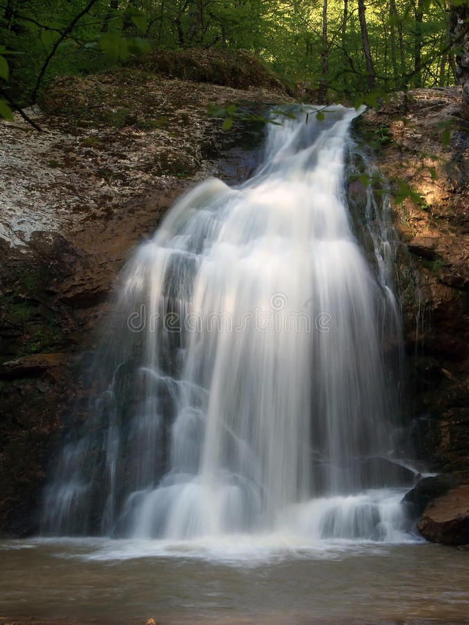 Waterfall in the forest. royalty free stock images