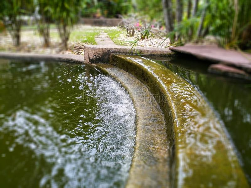 Waterfall in the garden royalty free stock image