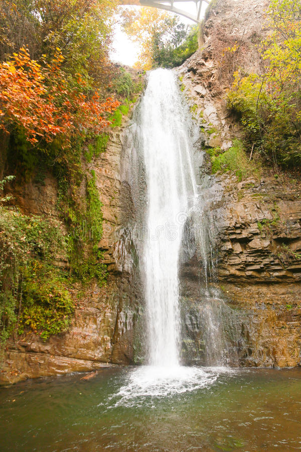 Waterfall,Georgia. Forest waterfall in Helen Georgia royalty free stock images