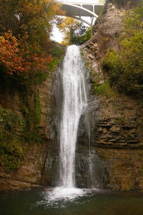 Waterfall,Georgia. Forest waterfall in Helen Georgia royalty free stock photography