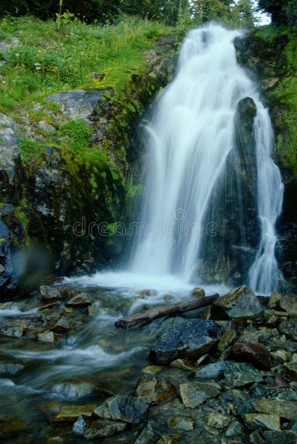 Waterfall in the Gifford Pinchot Wilderness. The Gifford Pinchot Wilderness offers a truly breathtaking high alpine experience in washington along the pacific royalty free stock images