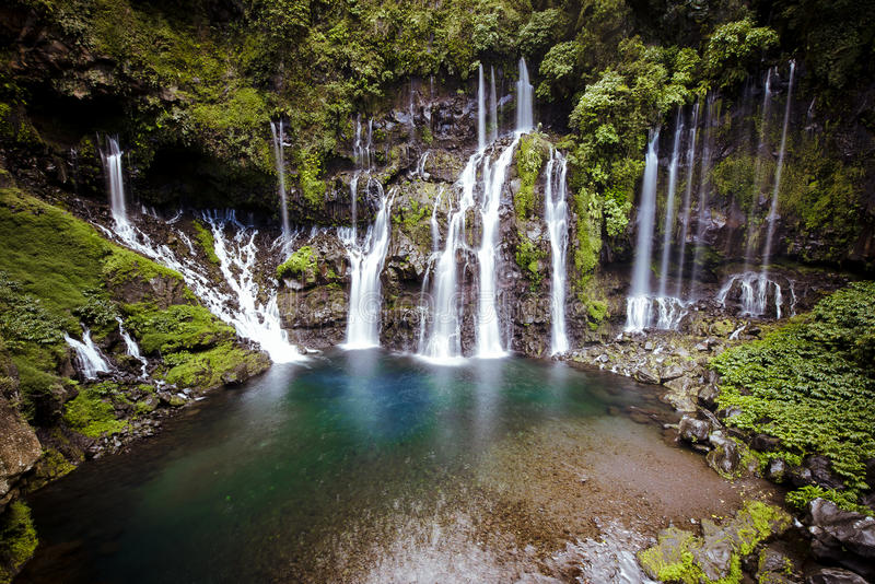 Waterfall Grand Galet stock photography