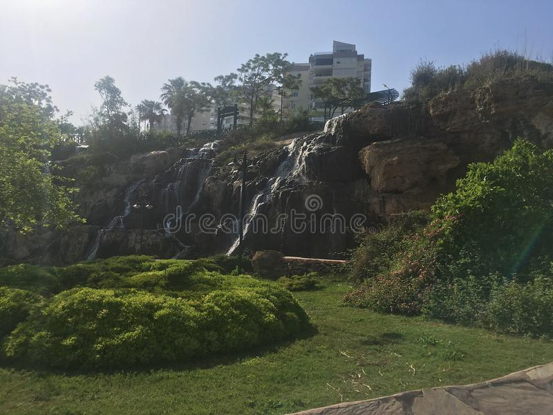 waterfall and grass stock photography