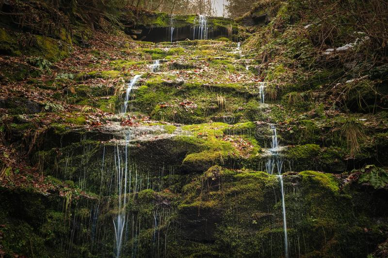The Green Waterfall Cave stock images