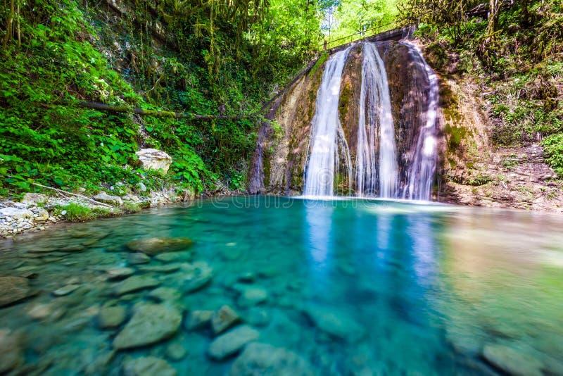 33 Waterfalls, Sochi, Russia. royalty free stock photo