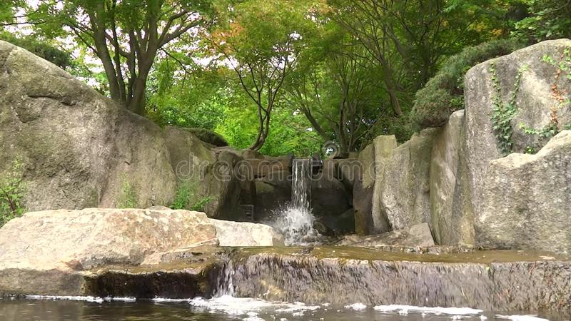 Waterfall In Hamburg Planten Un Blomen Park Stock Footage Video Of