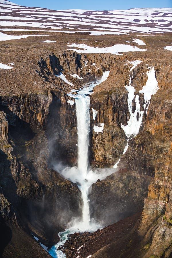 Waterfall on the Hikikal River, Putorana Plateau, Siberia stock photography
