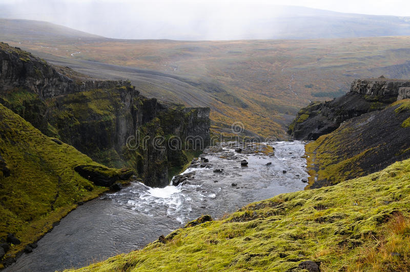 Download Waterfall in iceland stock photo. Image of travel, glymur - 23263694