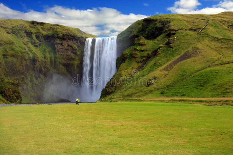 Waterfall, Iceland royalty free stock image