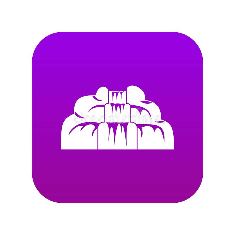 Waterfall icon digital purple. For any design isolated on white vector illustration vector illustration