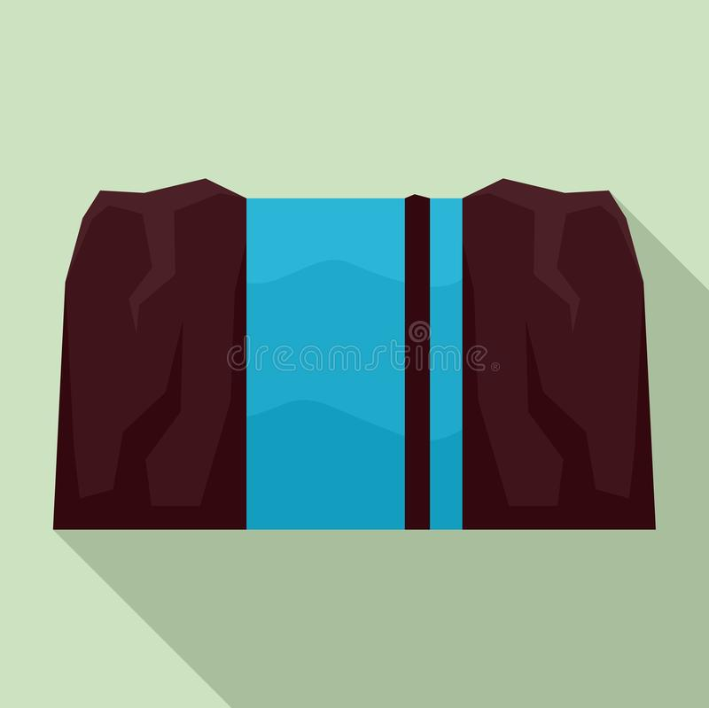 Waterfall icon, flat style. Waterfall icon. Flat illustration of waterfall vector icon for web design vector illustration