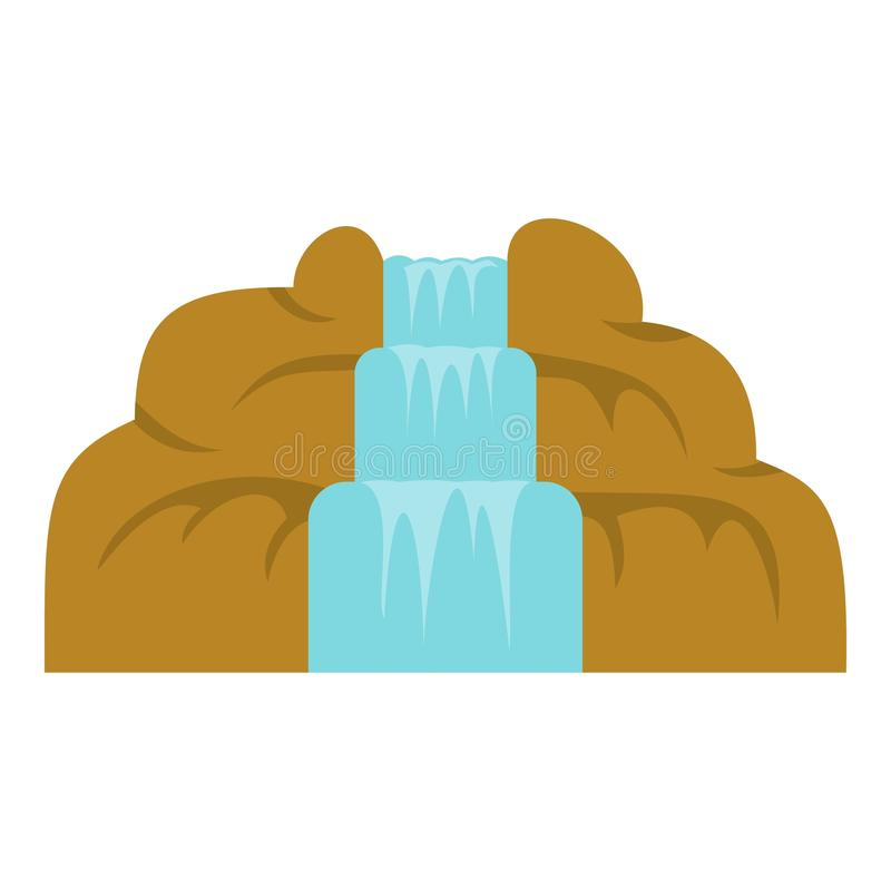Waterfall icon isolated. Waterfall icon flat isolated on white background vector illustration vector illustration