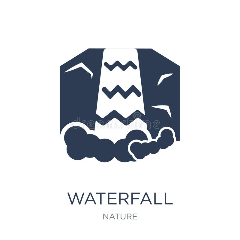 Waterfall icon. Trendy flat vector Waterfall icon on white background from nature collection. Vector illustration can be use for web and mobile, eps10 vector illustration