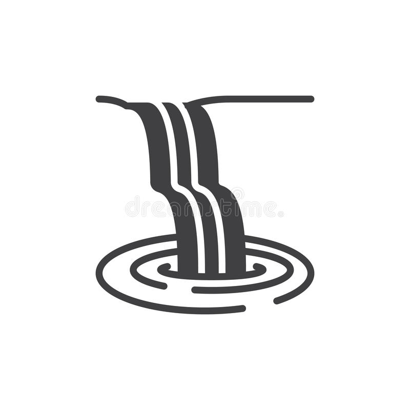 Waterfall icon vector. Filled flat sign, solid pictogram isolated on white. Symbol, logo illustration. Pixel perfect vector graphics vector illustration