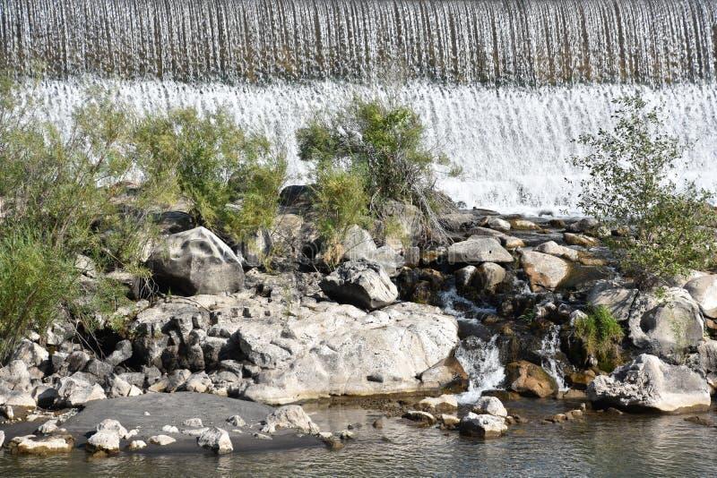 Waterfall at Idaho Falls in Idaho. USA stock photo