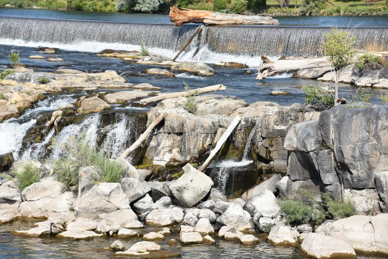 Waterfall at Idaho Falls in Idaho. USA stock images