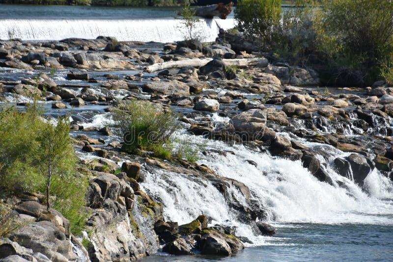 Waterfall at Idaho Falls in Idaho. USA royalty free stock photos