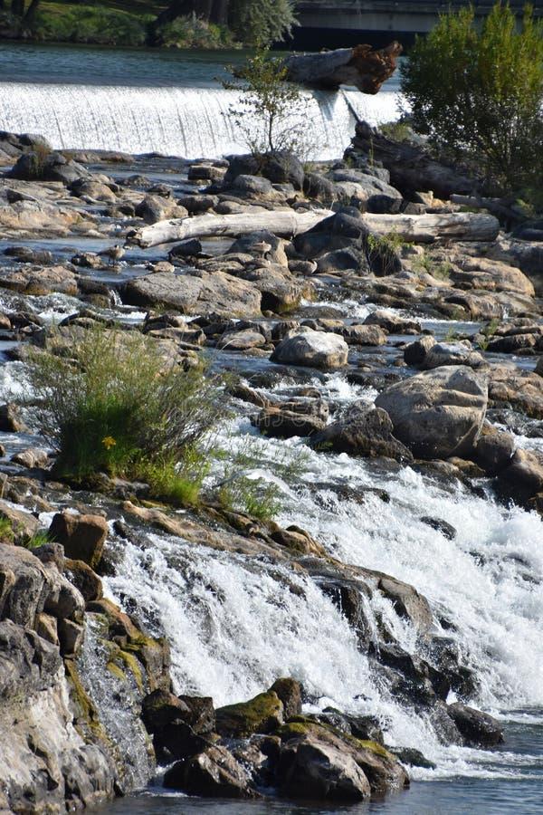 Waterfall at Idaho Falls in Idaho. USA royalty free stock image