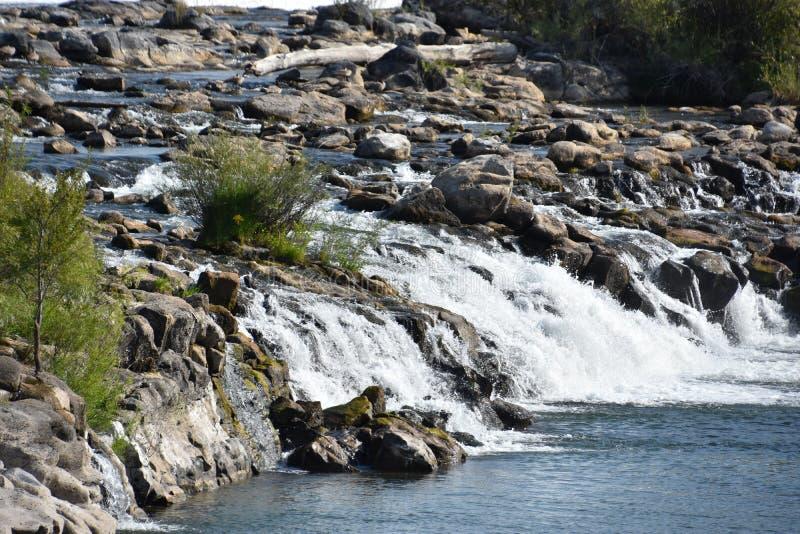 Waterfall at Idaho Falls in Idaho. USA royalty free stock photography