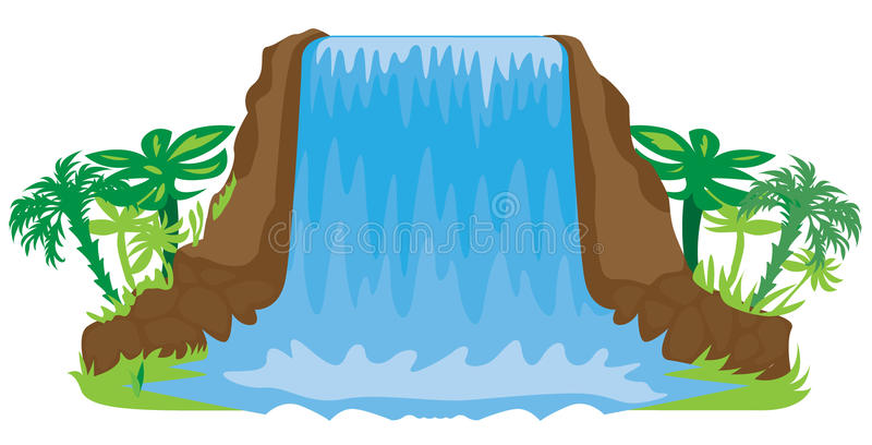 waterfall illustration stock vector illustration of fall 21154388 rh dreamstime com waterfall clipart images free waterfall clip art