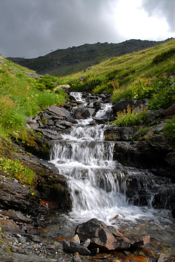 Free Waterfall In The Mountain Stock Images - 2961044