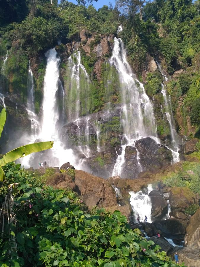Waterfall in india natural stock images